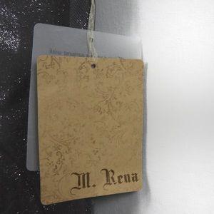 M. Rena Pants - T476 M. Rena Gray Silver Sparkle Hi Rise Leggings